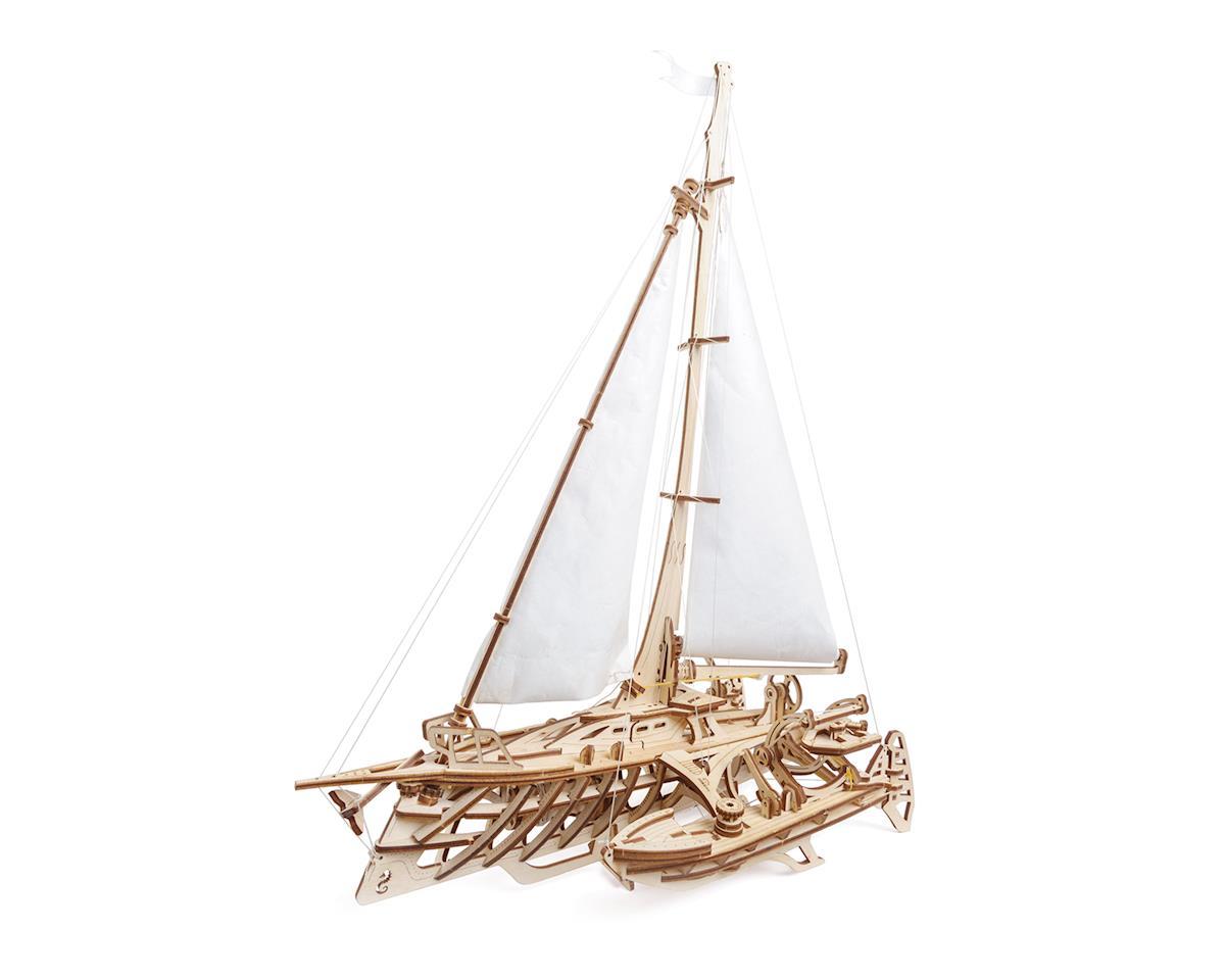 Trimaran Merihobus Wooden 3D Model