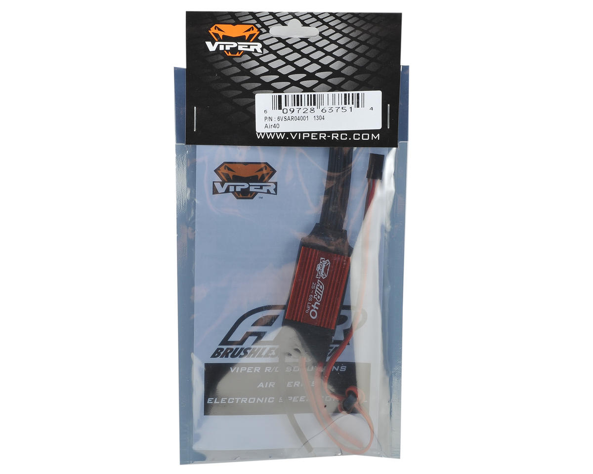 Viper R/C AIR40 40 Amp 2/6-Cell Airplane ESC w/Switching BEC