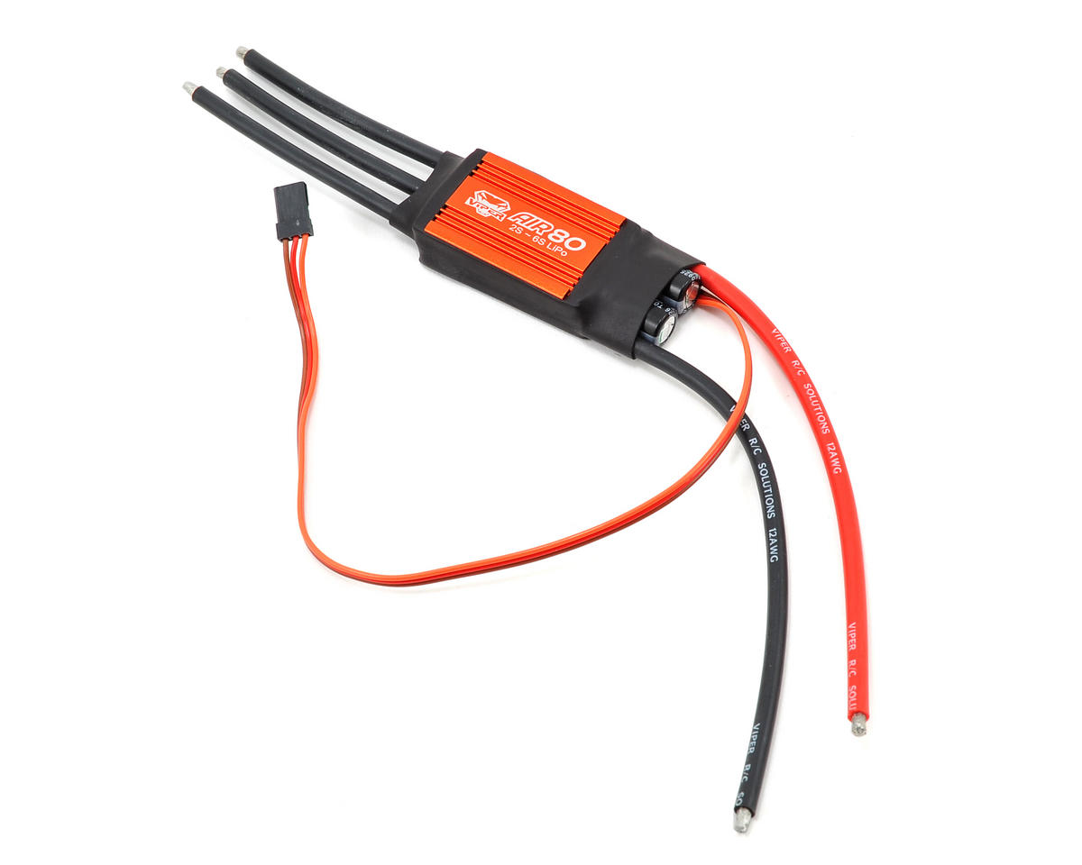 Viper R/C AIR80 80 Amp 2/6-Cell Airplane ESC w/Switching BEC