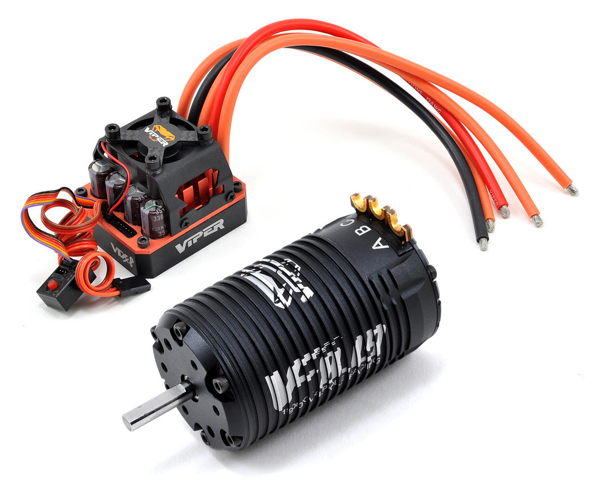 Viper R/C 1/8th Scale VTX8 Sensored Brushless ESC/VF8.19 Competition 4-Pole Motor & EZ Link