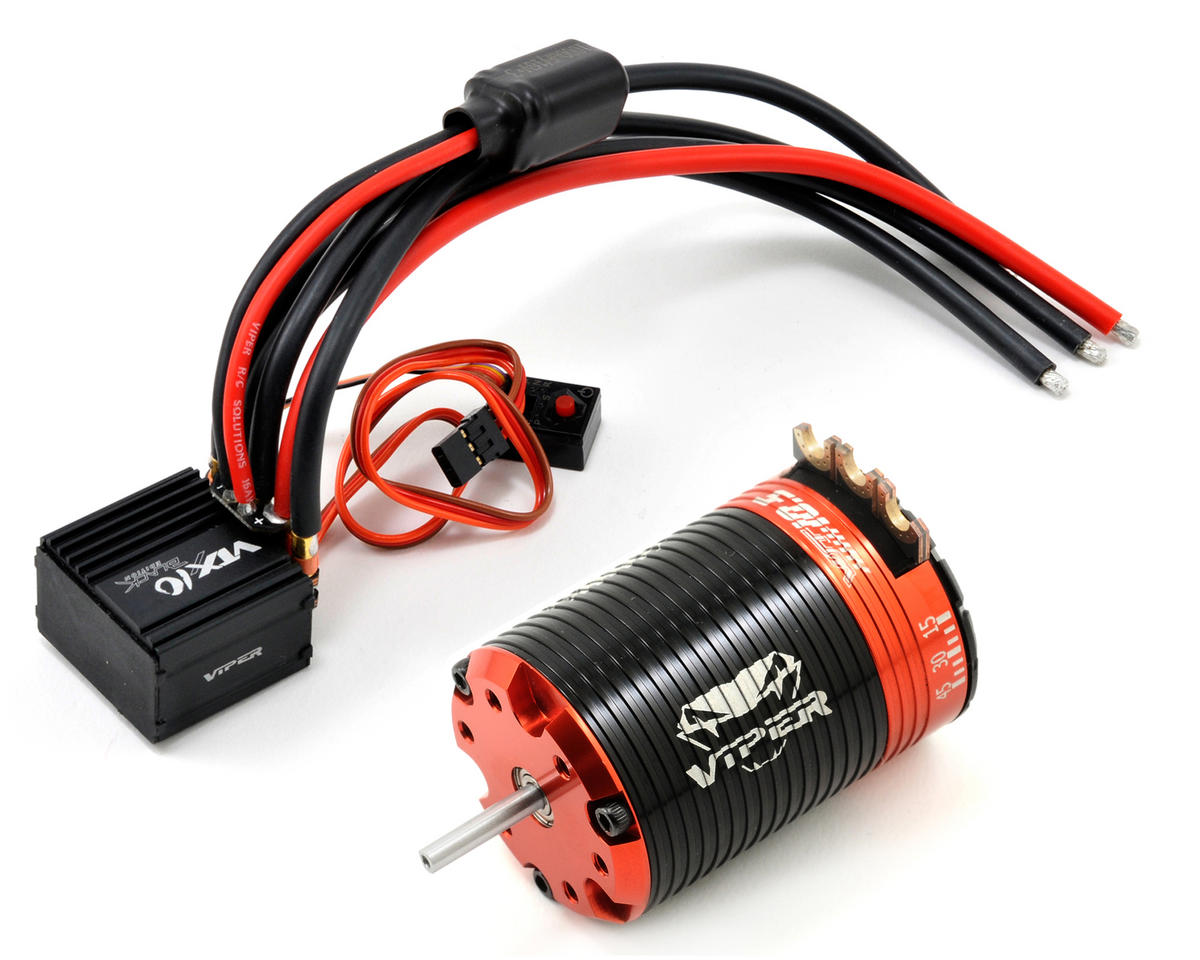 "Viper R/C VTX10-BE ""Black Edition"" ESC & VST10.5 Brushless Motor Combo w/EZ Link (10.5T)"