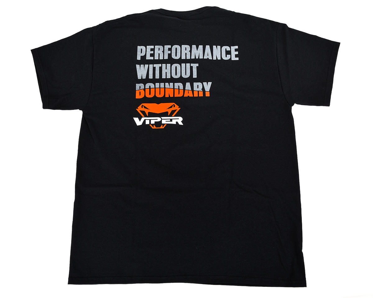 Viper R/C Team Viper Performance Black T-Shirt (3X-Large)