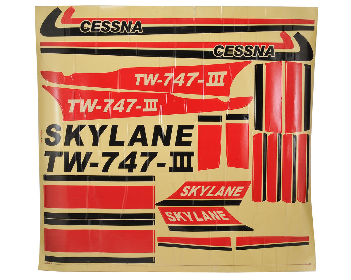 SCRATCH & DENT: Volantex Skylane Cessna R/C Decal Set