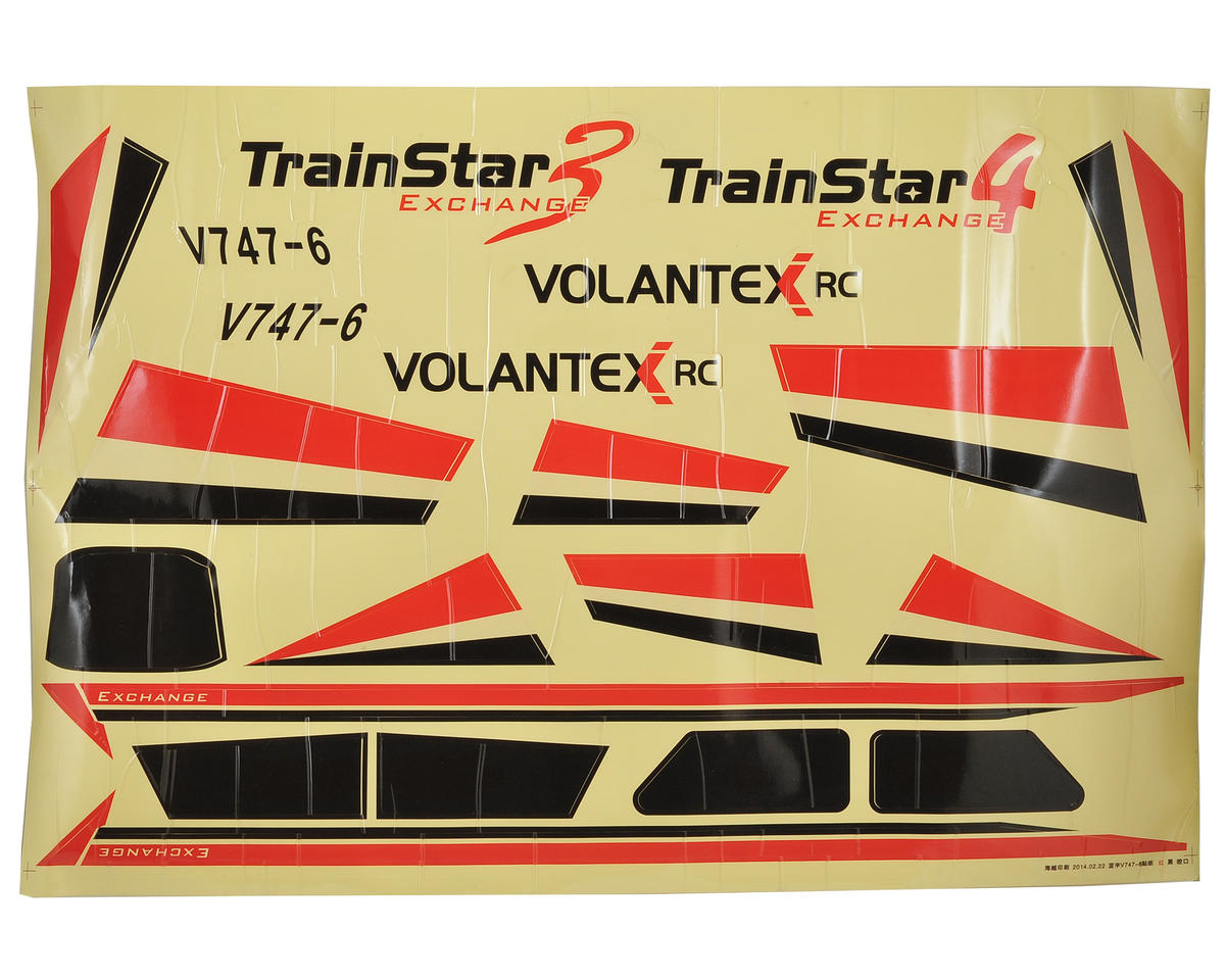 Volantex R/C TrainStar Decal Set