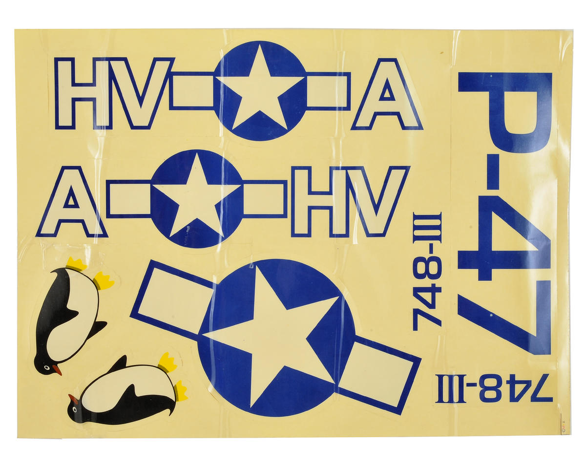 Volantex R/C P-47 Decal Set
