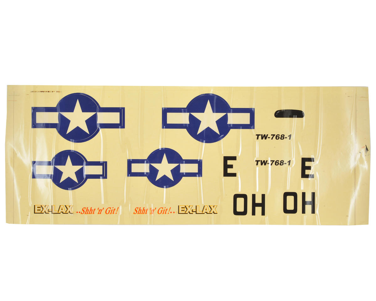 P-51D Decal Set (Silver) by Volantex R/C