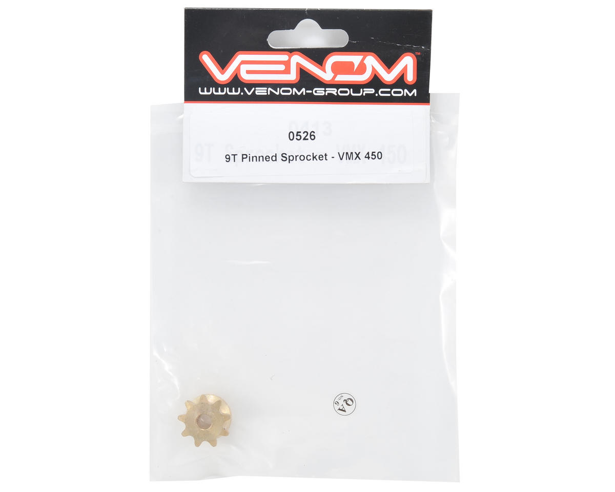 Venom 9 Tooth Pinned Sprocket