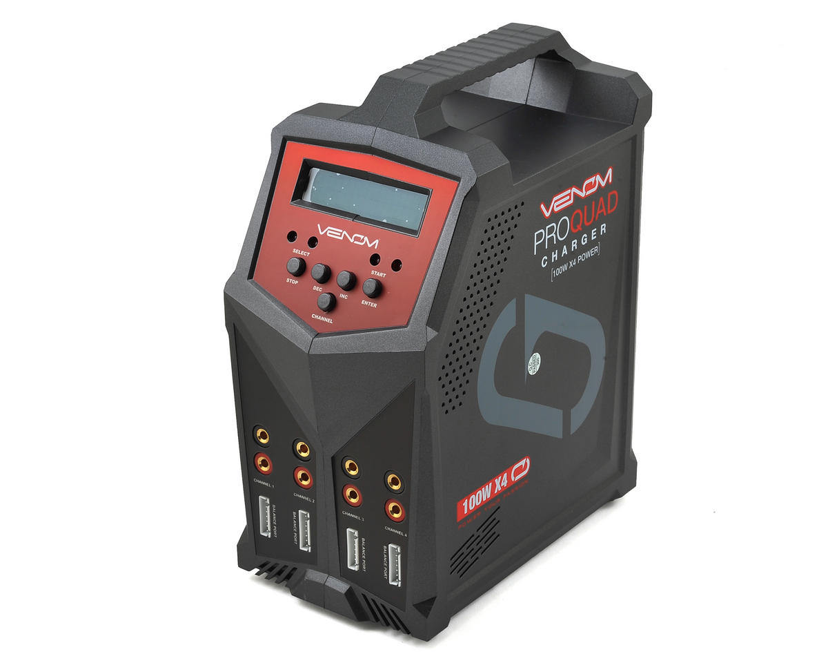 Pro Quad 4-Port AC/DC Battery Charger (6S/7A/100W) by Venom Power