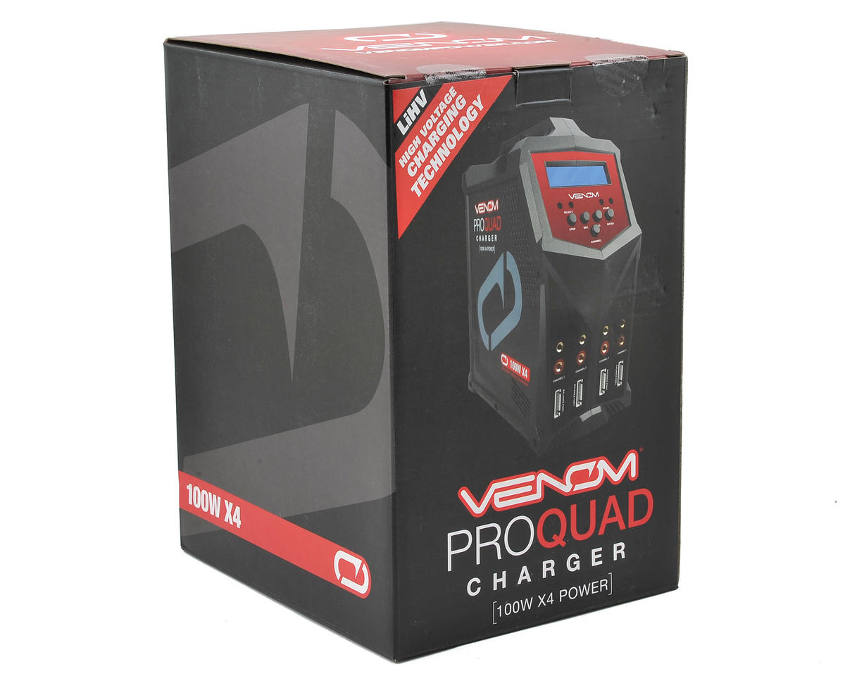 Venom Pro Quad 4-Port AC/DC Battery Charger (6S/7A/100W)