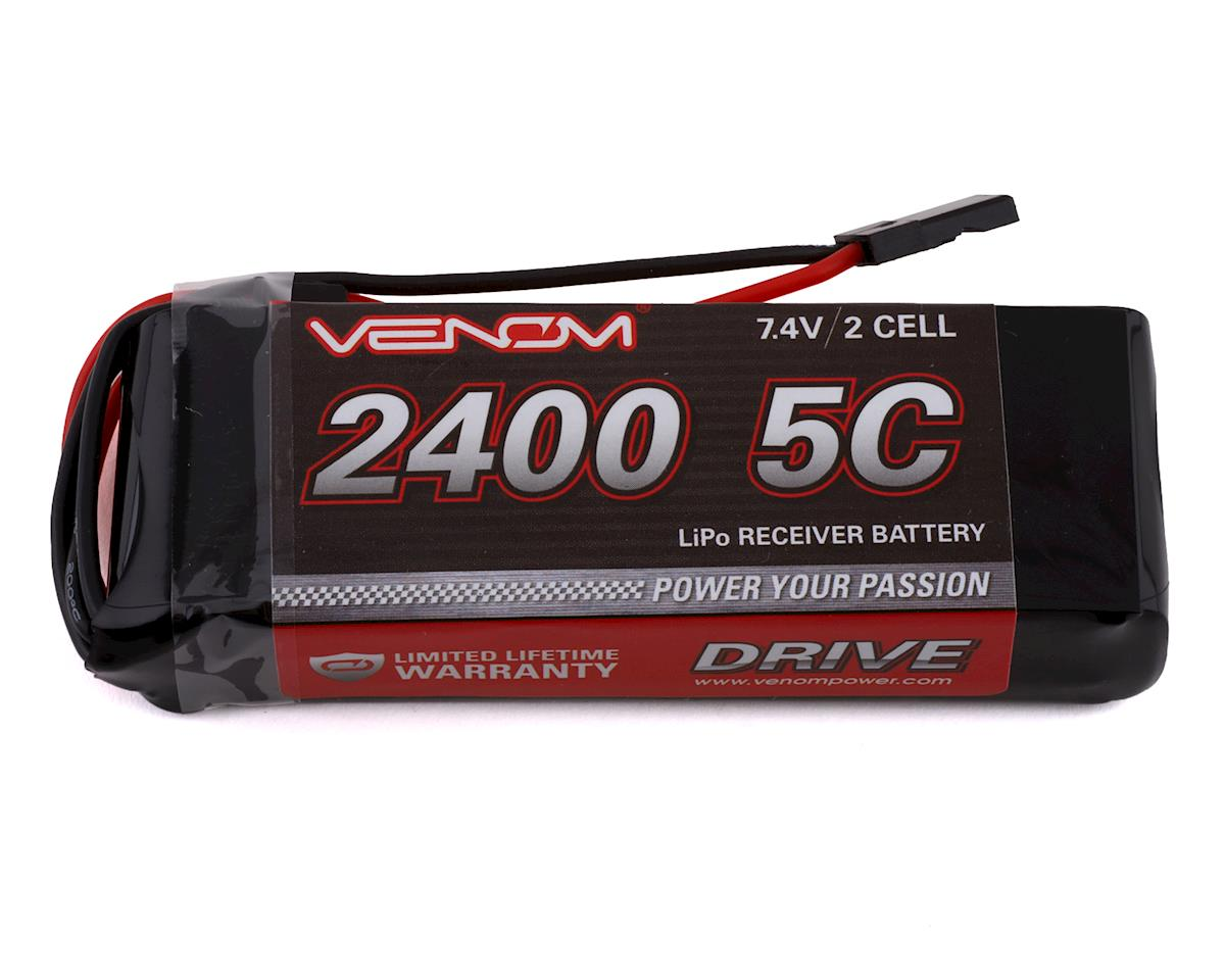 5C 2S LiPo Receiver/Transmitter Flat Battery (7.4V/2400mAh) by Venom Power