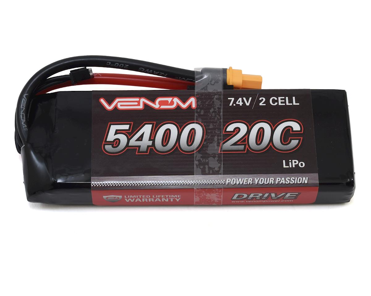 Venom Power 2S 20C LiPo Battery w/Universal Connector (7.4V/5400mAh)
