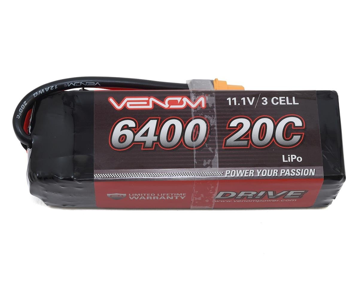 Venom Power 3S 20C LiPo Battery w/UNI 2.0 Connector (11.1V/6400mAh)