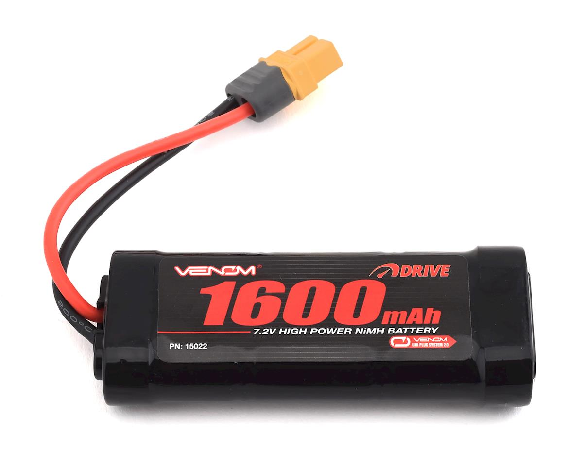 Venom Power 6 Cell 7.2V 1600mAh NiMH Battery w/Universal Connector