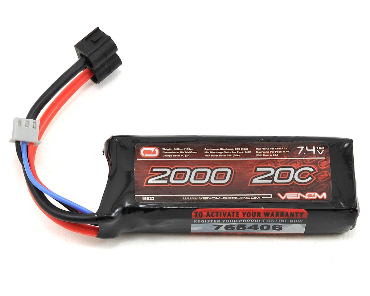 Venom Power 2S LiPo 20C Mini Battery Pack w/Universal Connector (7.4V/2000mAh)