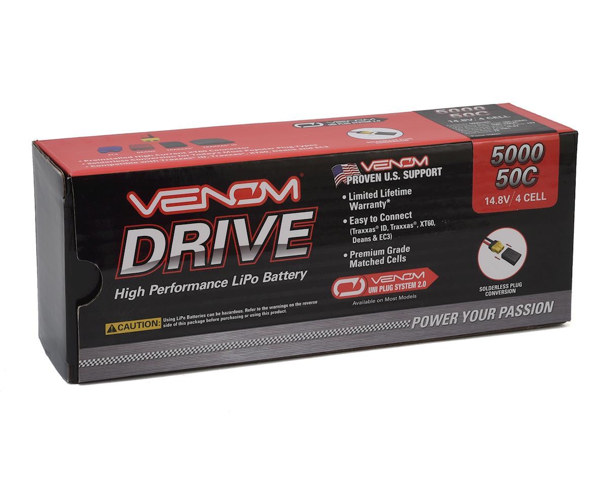 4S 50C Hard Case LiPo Battery w/UNI 2.0 Connector (14.8V/5000mAh) by Venom Power