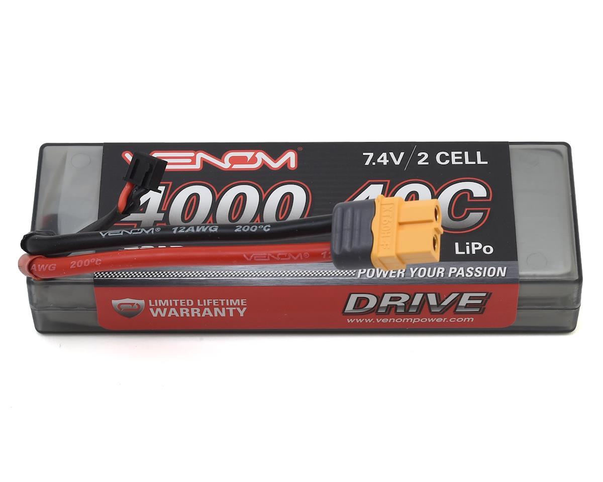 Venom Power 2S 40C Hard Case LiPo Battery w/UNI 2.0 (7.4V/4000mAh)