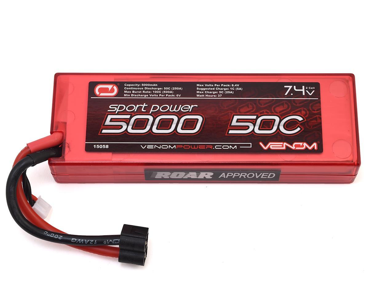 Venom Power Sport Power 2S 50C Hard Case LiPo Battery (7.4V/5000mAh)