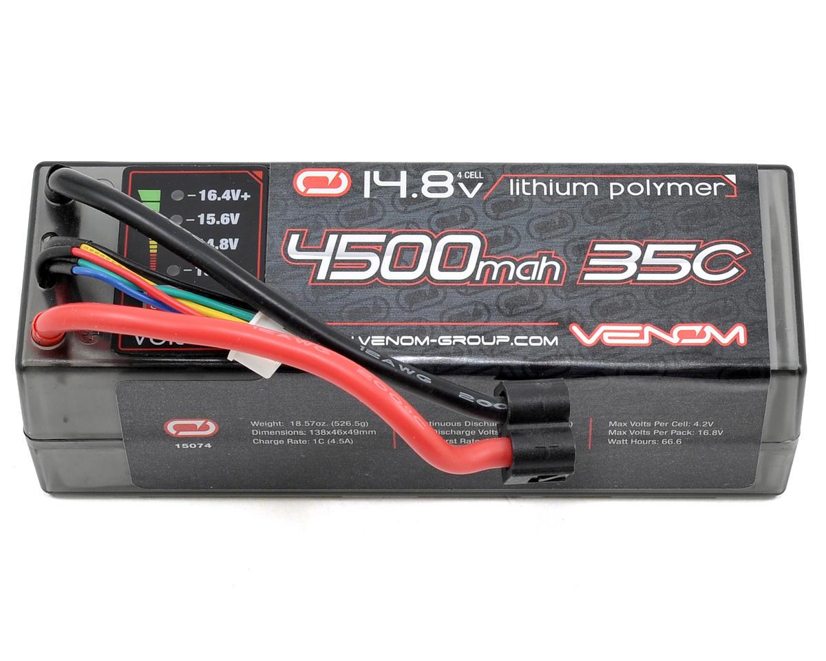 Venom Power 4S Li-Poly 35C Battery Pack w/Volt Check & Universal Connector (14.8V/4500mAh)