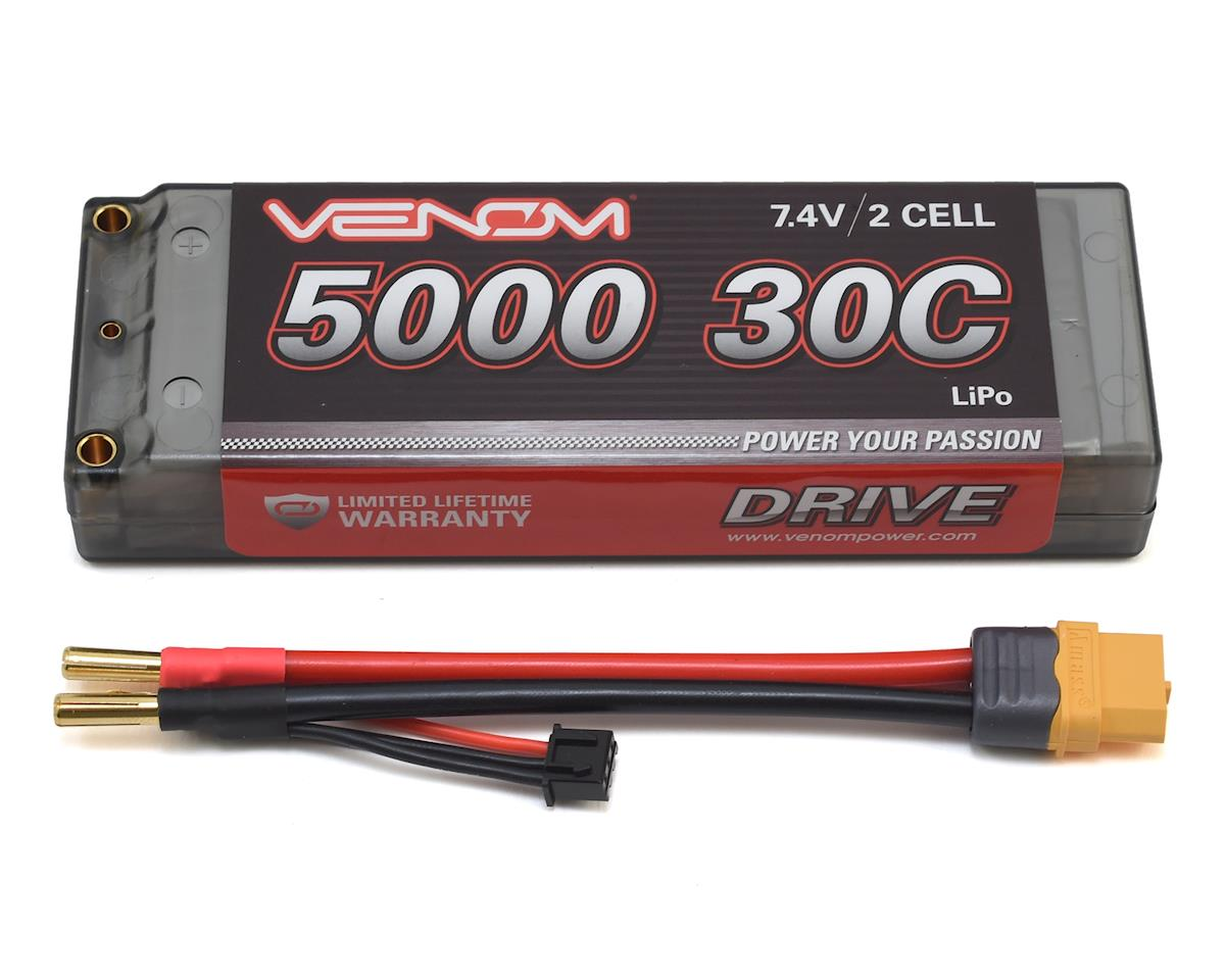 Venom Power 2S 30C Hard Case LiPo Battery w/Universal Connector (7.4V/5000mAh)