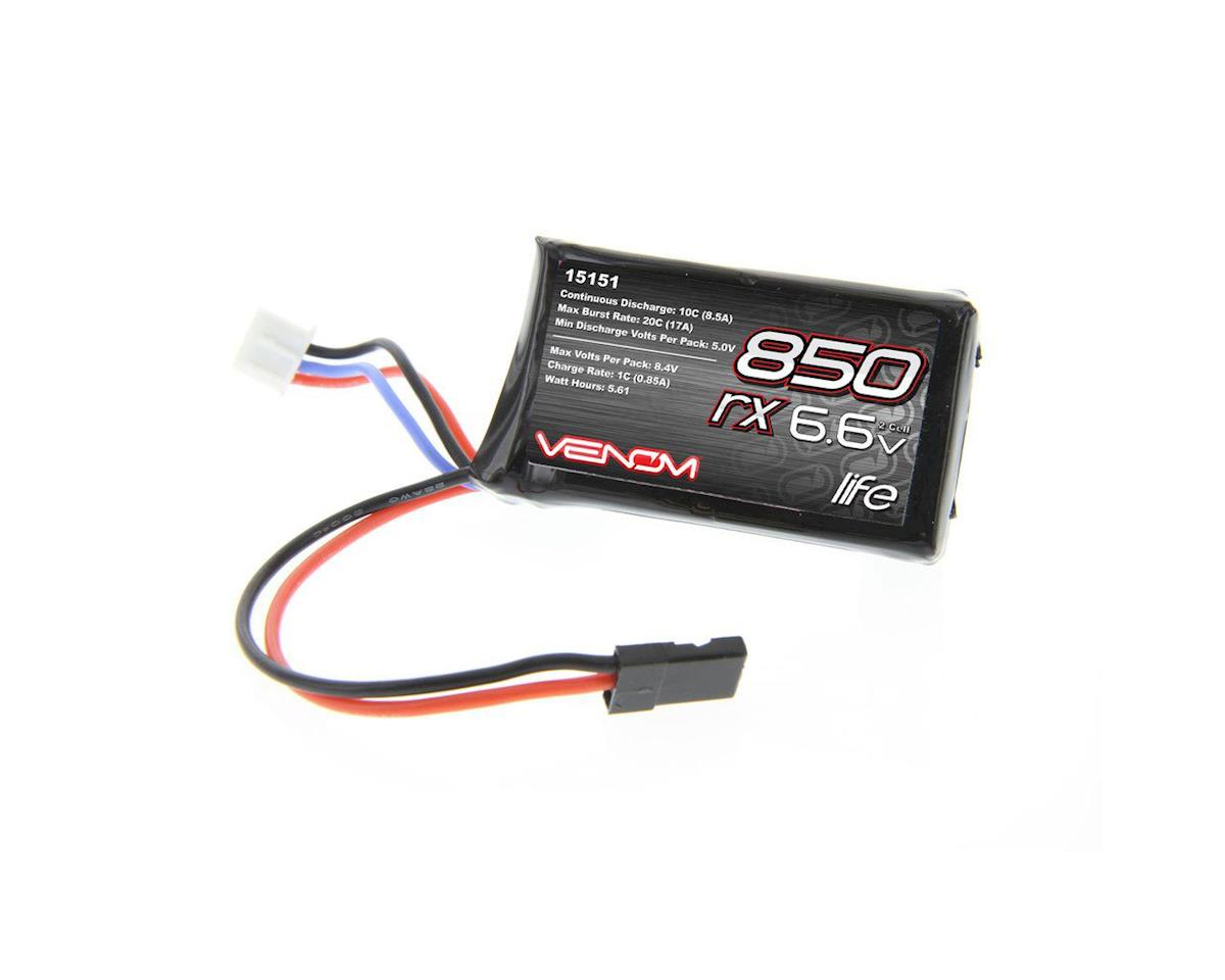 Venom Power 2S 10C LiFe Universal Receiver Battery (6.6V/850mAh)
