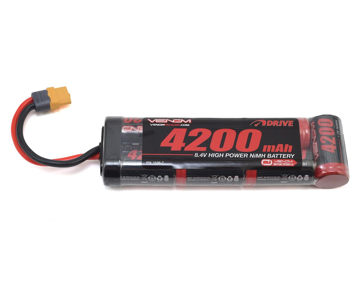 Venom Power 7 Cell NiMH Flat Battery w/Universal Connector (8.4V/4200mAh)