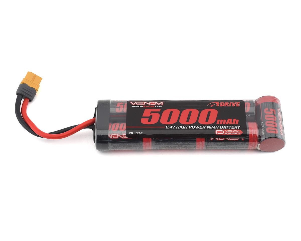 7 Cell NiMH Flat Battery w/Universal Connector (8.4V/5000mAh) by Venom Power