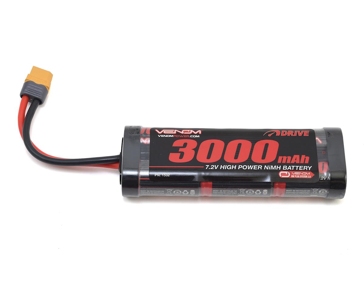 Venom Power 6 Cell 7.2V 3000mAh NiMH Battery w/UNI 2.0 ...