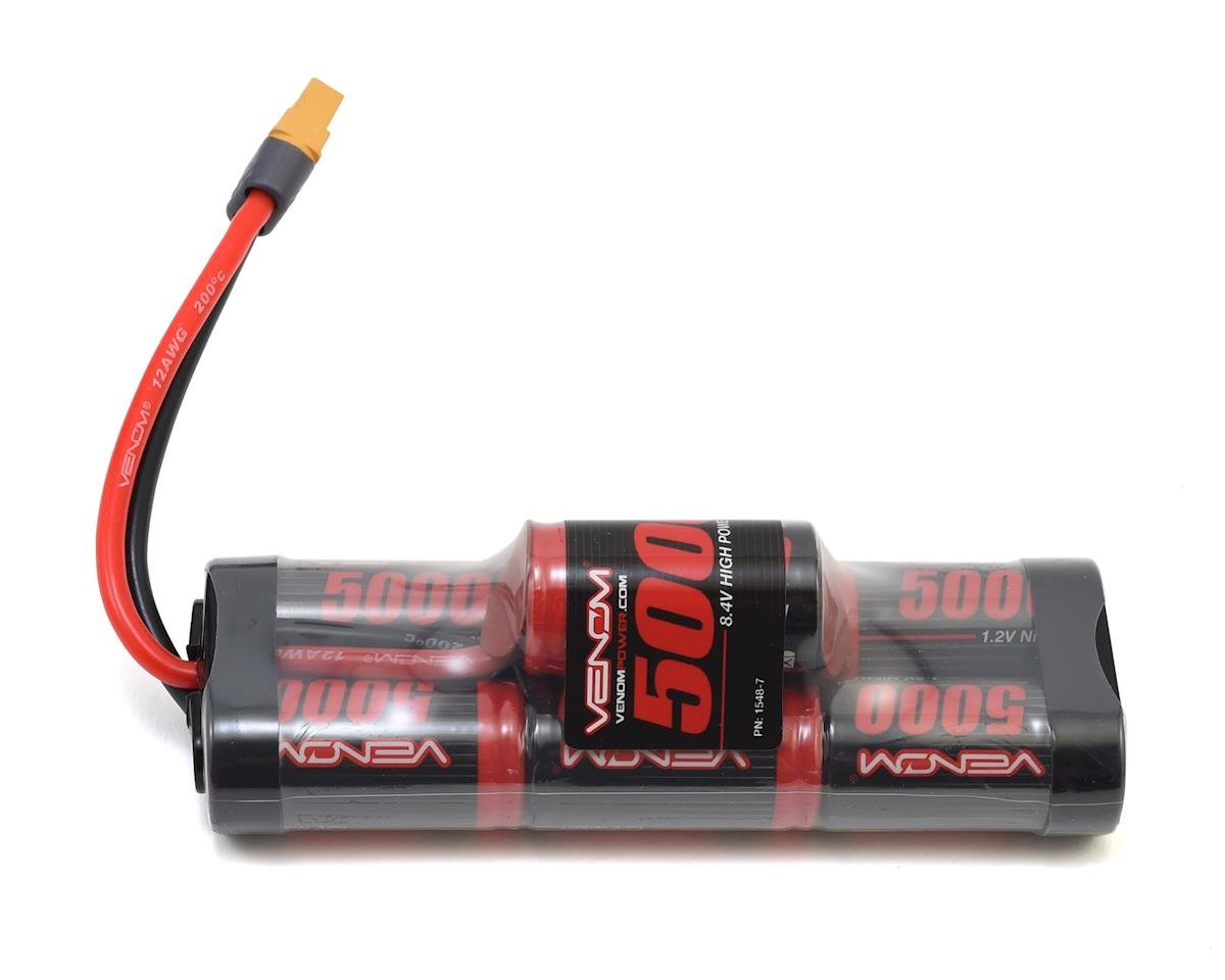 Venom Power 7-Cell Hump NiMH Battery Pack w/Uni 2.0 Connector (8.4V/5000mAh)