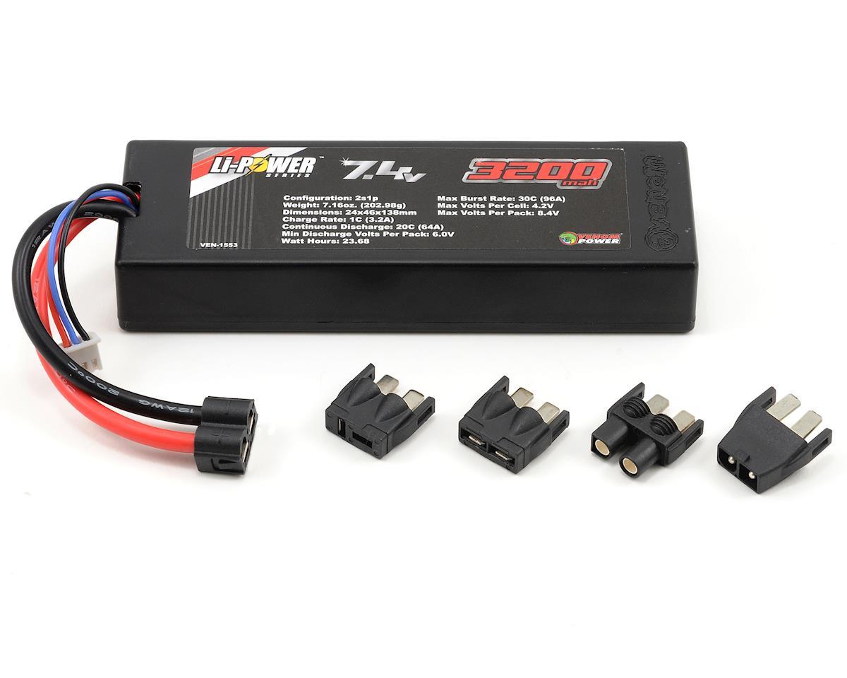 Venom Power 2S LiPo 20C Car Battery Pack w/Universal Connector (7.4V/3200mAh)
