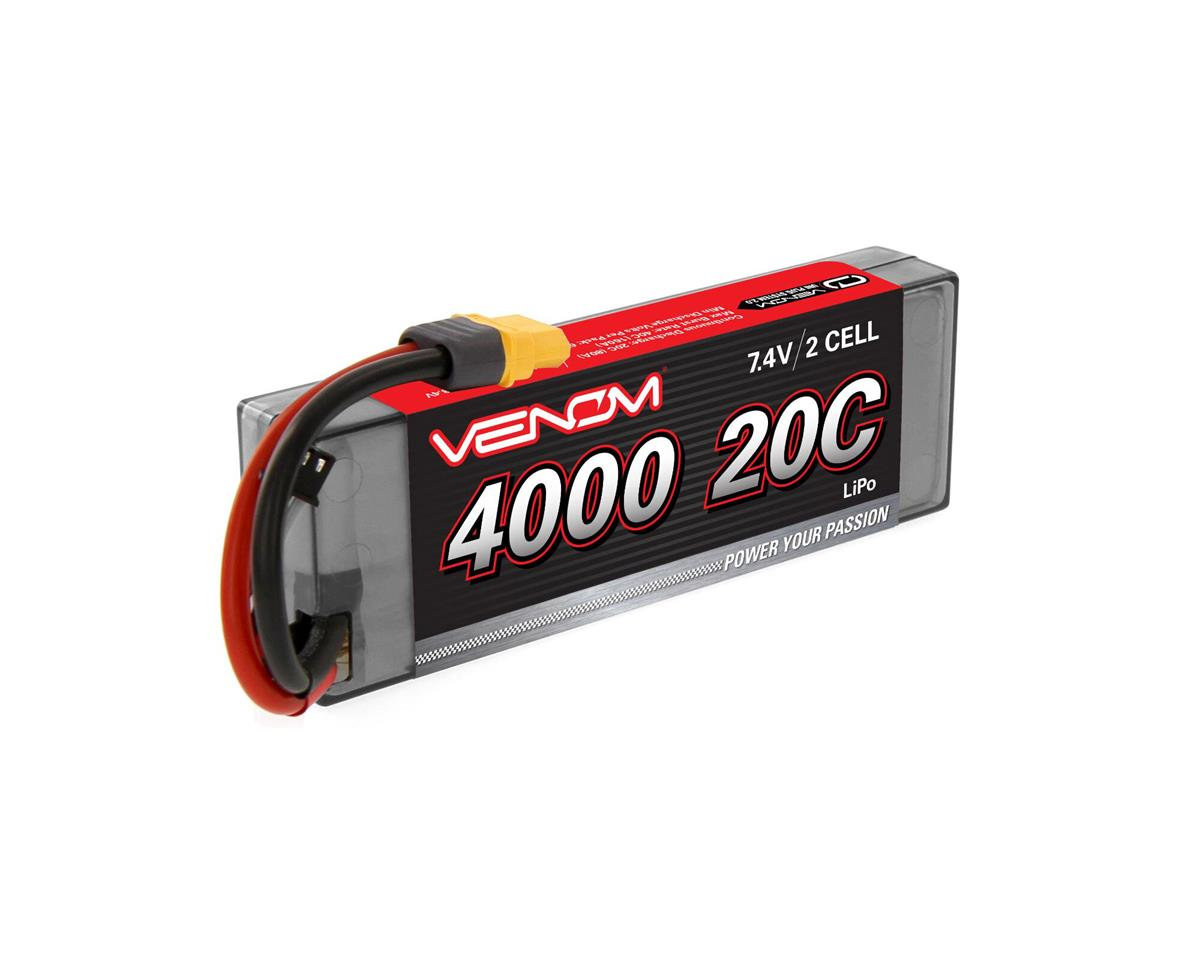 Venom Power 2S LiPo 20C Car Battery Pack w/Universal Connector (7.4V/4000mAh)