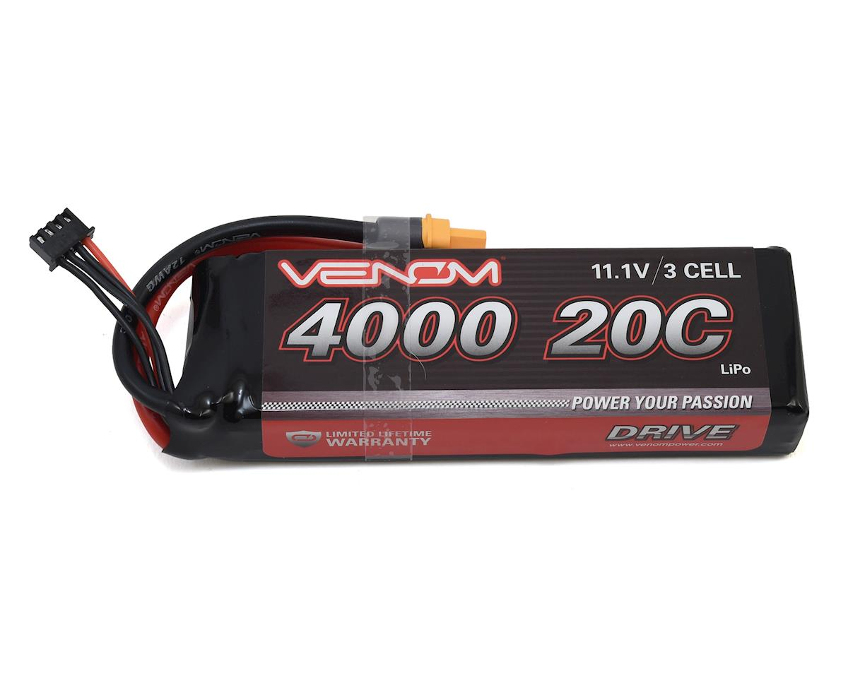 Venom Power 3S LiPo 20C Battery Pack w/Universal Connector (11.1V/4000mAh) (Traxxas Rustler)
