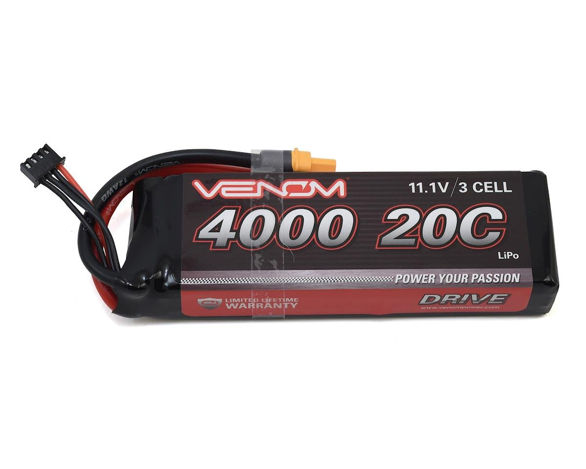 Venom Power 3S LiPo 20C Battery Pack w/Universal Connector (11.1V/4000mAh) (Traxxas Stampede)
