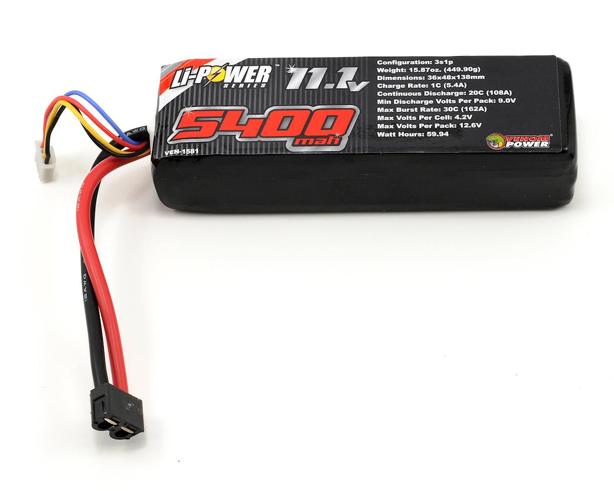 Venom Power 3S 20C LiPo Battery w/Universal Connector (11.1V/5400mAh)