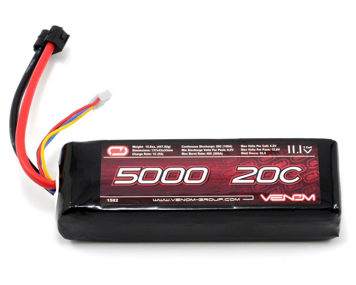 Venom Power 3S LiPo 20C Battery Pack w/Universal Connector (11.1V/5000mAh)
