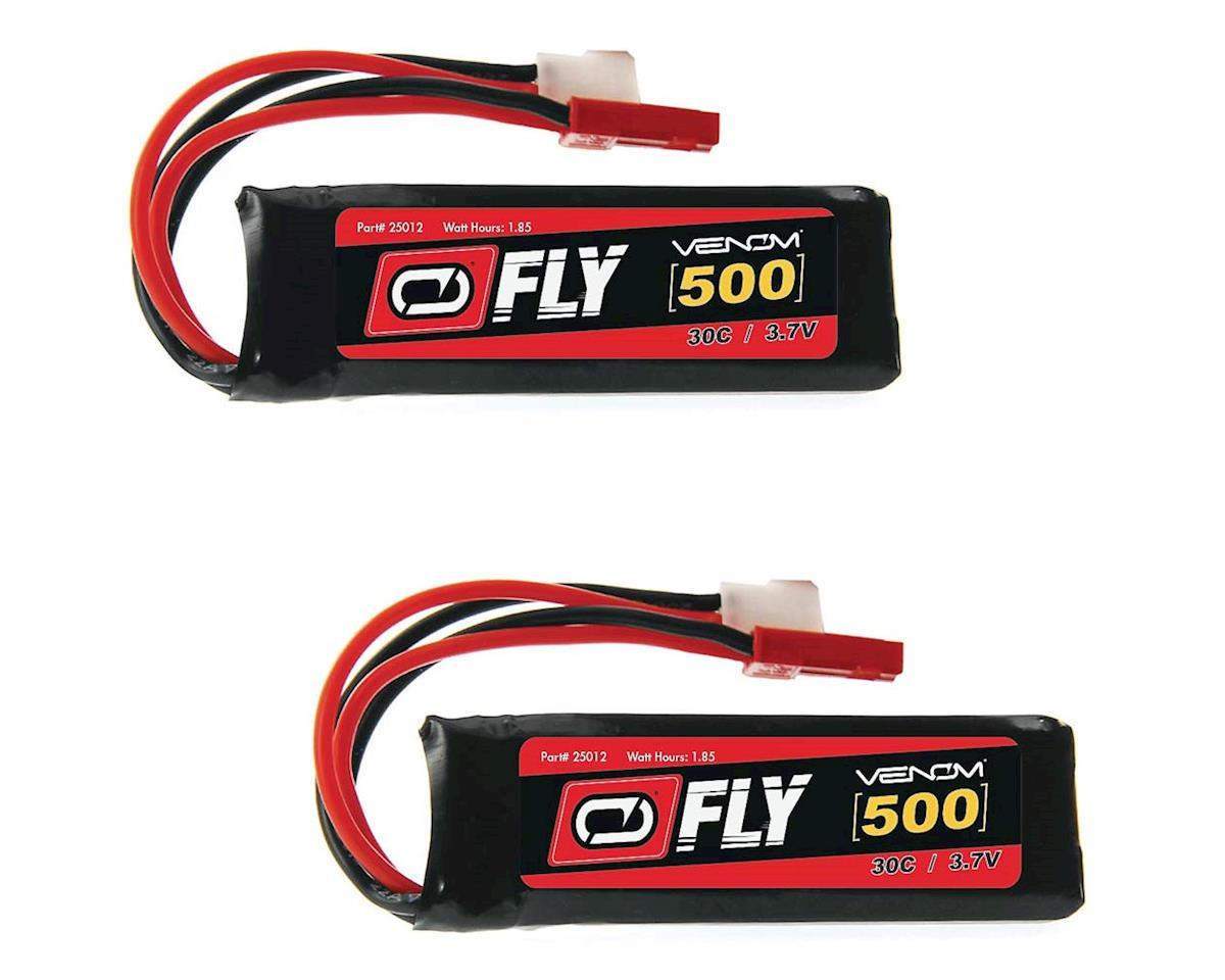 Venom Power 25012X2 LiPo 1S 3.7V 500mAh 30C Micro Losi/JST (2)