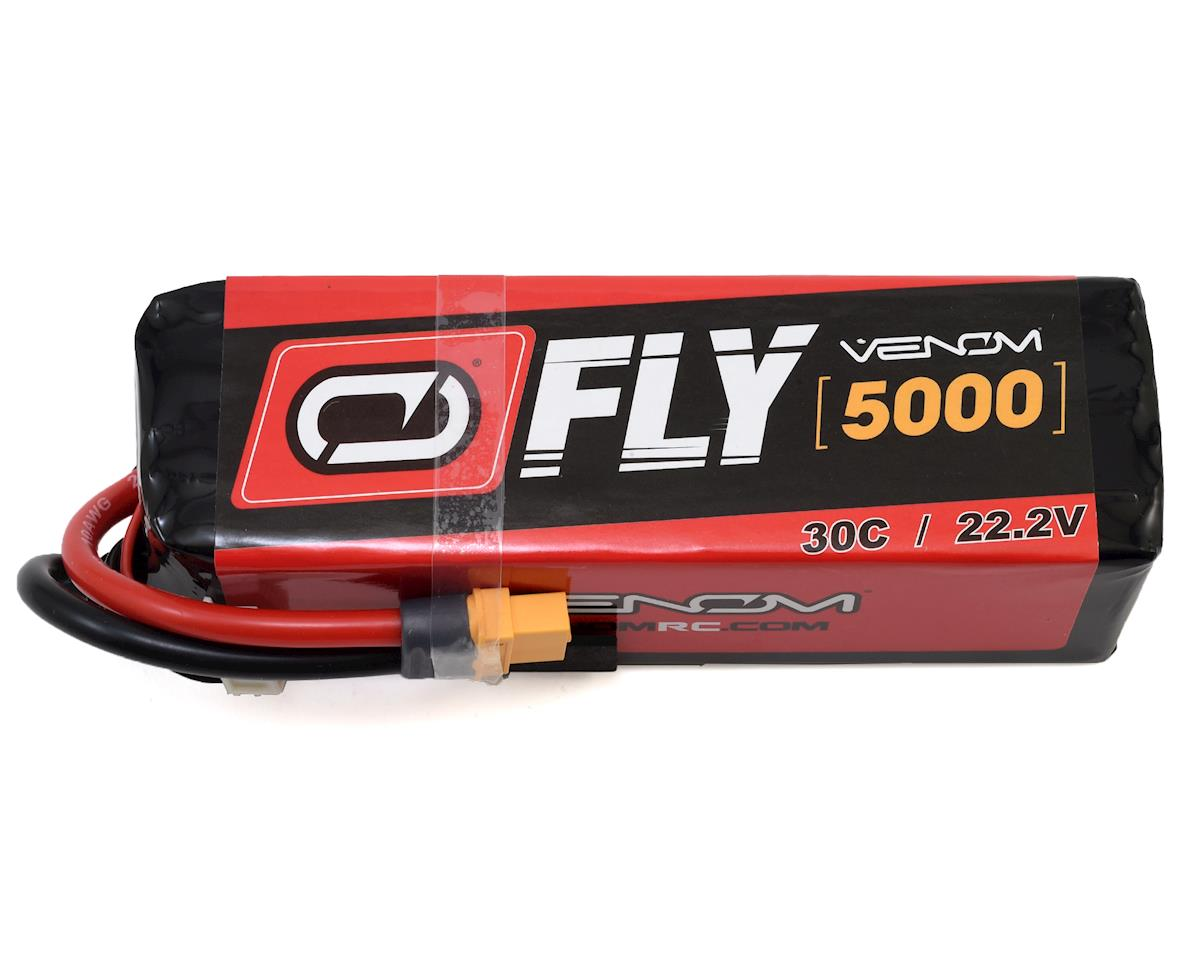 LiPO 6S 22.2V 5000mAh 30C Universal Plug 2.0 Fly by Venom Power