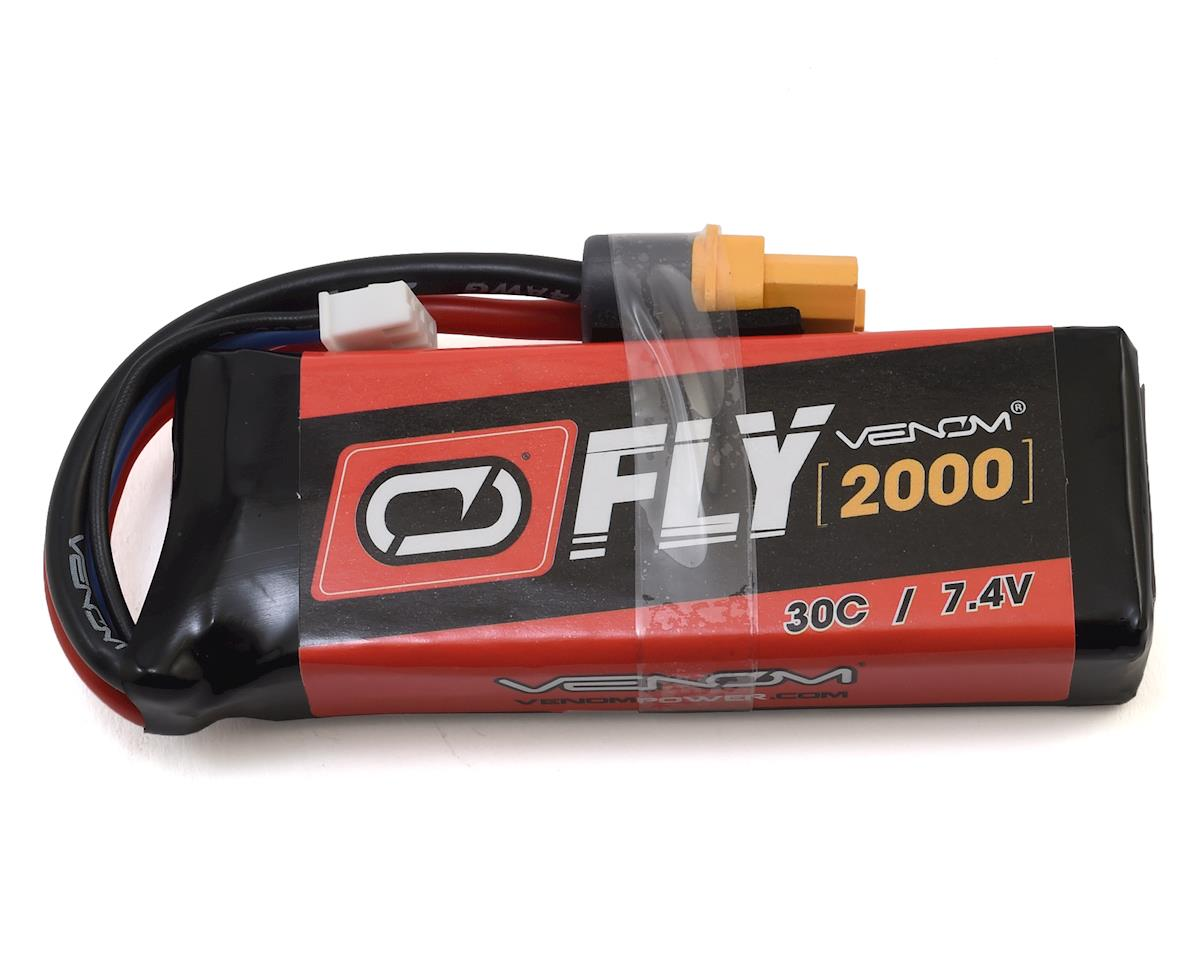 2S 30C LiPo Battery Pack w/Universal 2.0 Connector (7.4V/2000mAh) by Venom Power