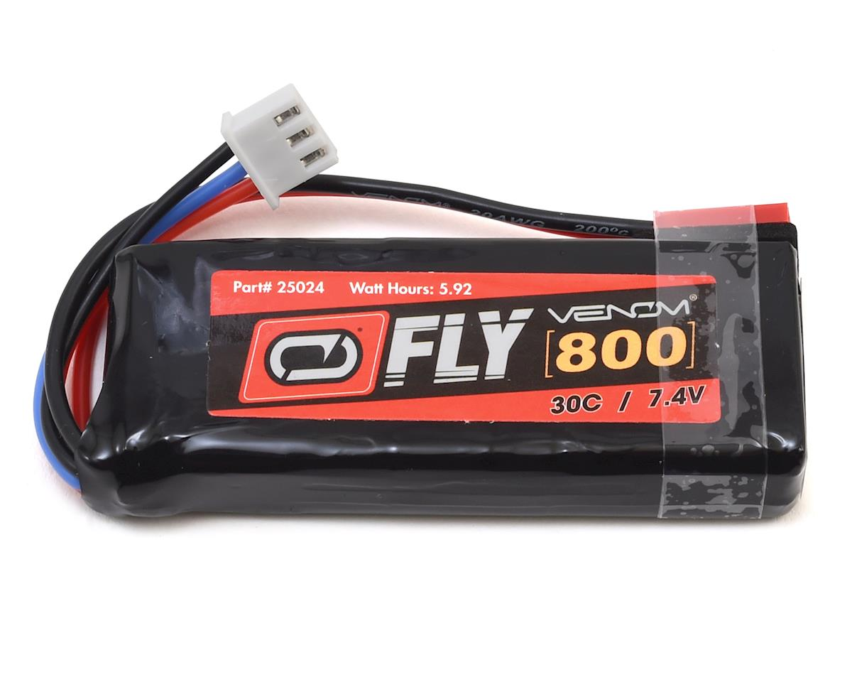 Venom Power Fly 2S 30C LiPo Battery w/JST (7.4V/800mAh)