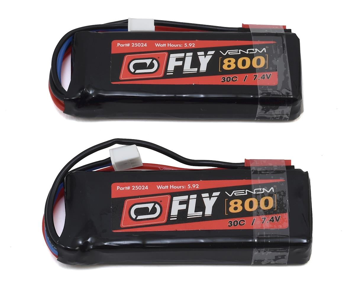 25024X2 LiPo 2S 7.4V 800mAh 30C JST (2) by Venom Power