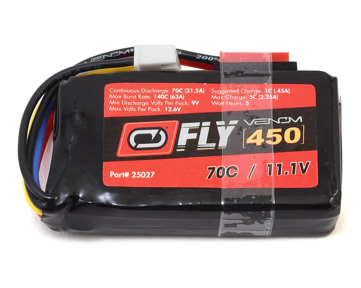 Venom Power Fly 3S 70C LiPo Battery (7.4V/450mAh)