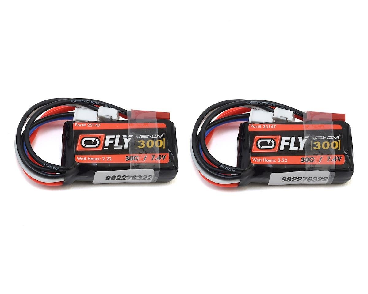 Venom Power LiPo 2S 7.4V 300mAh 30C JST/E-Flite PH (2)