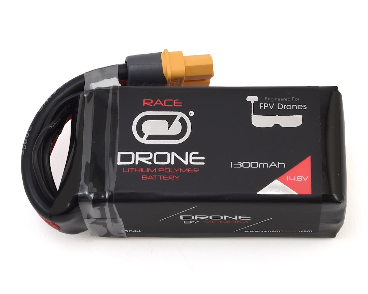 Venom Power Drone FPV 4S 75C LiPo Battery w/UNI 2.0 Connector (14.8V/1300mAh)