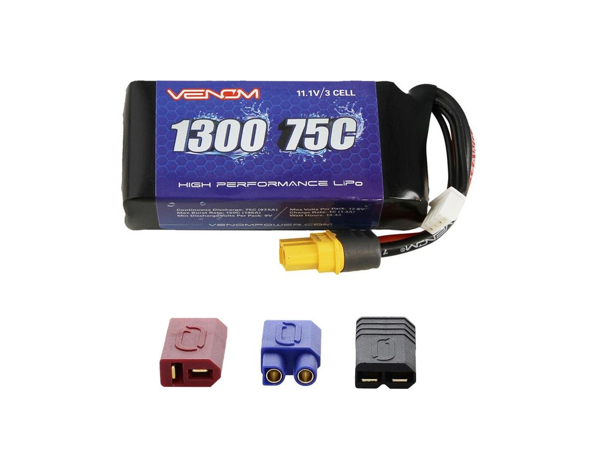 Venom Power 3S 75C LiPo Battery (11.1V/1300mAh) (Barbwire 2 Racing Boat)
