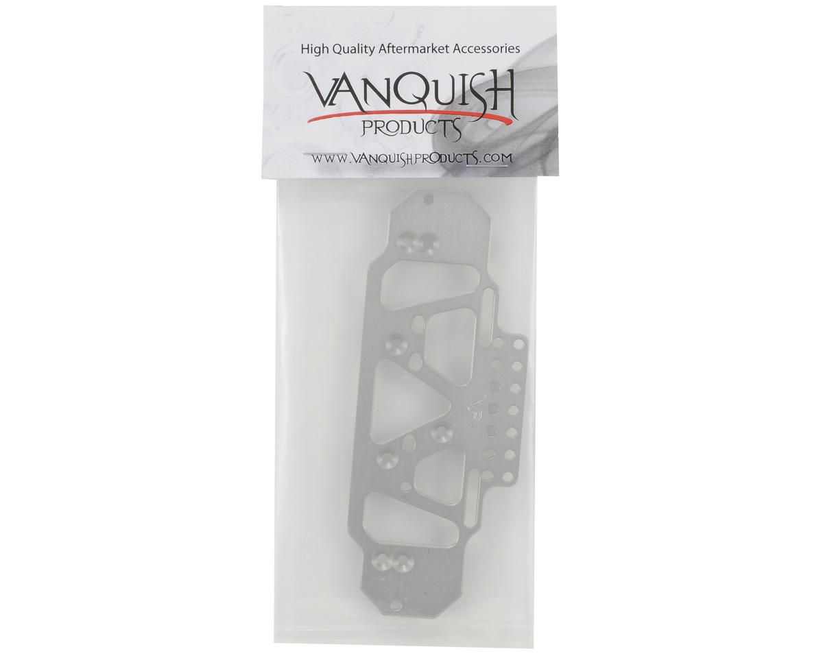 Vanquish Products Incision Front Battery Servo 4 Link Plate (Silver)