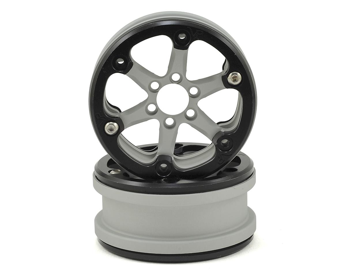 "Vanquish Products SLW V2 2.2"" Beadlock Wheel (Silver/Black) (2)"