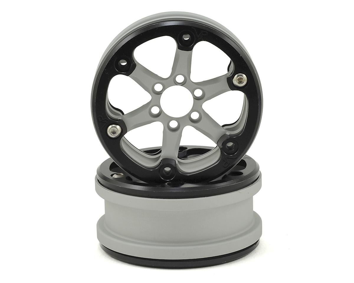 "SLW V2 2.2"" Beadlock Wheel (Silver/Black) (2) by Vanquish Products"
