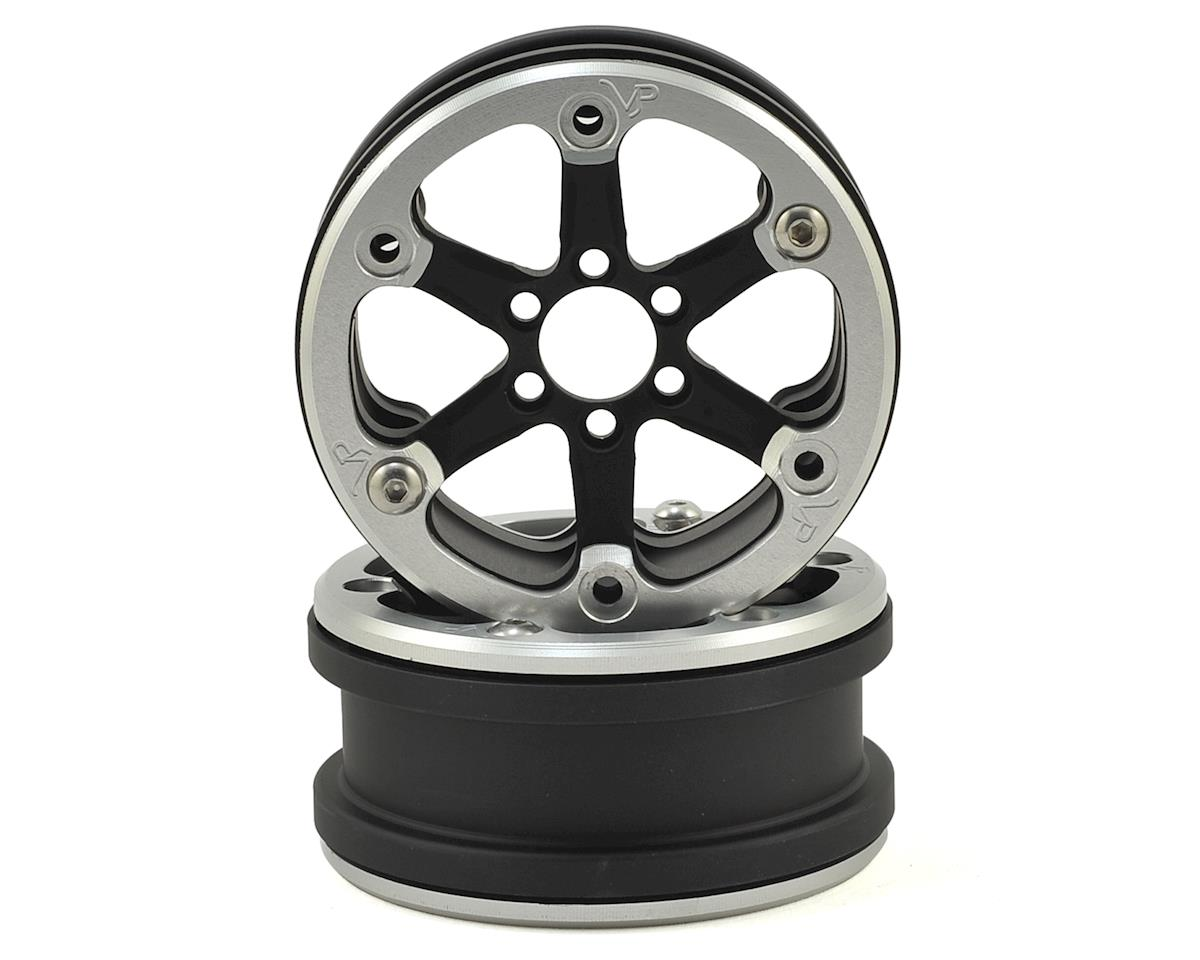 "Vanquish Products SLW V2 2.2"" Beadlock Wheel (Black/Silver) (2)"