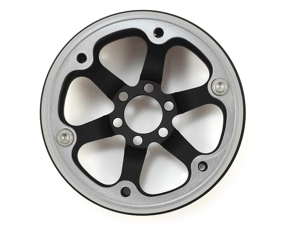"Vanquish Products SLW V2 2.2"" Beadlock Wheel (Black/Silver) (2)"