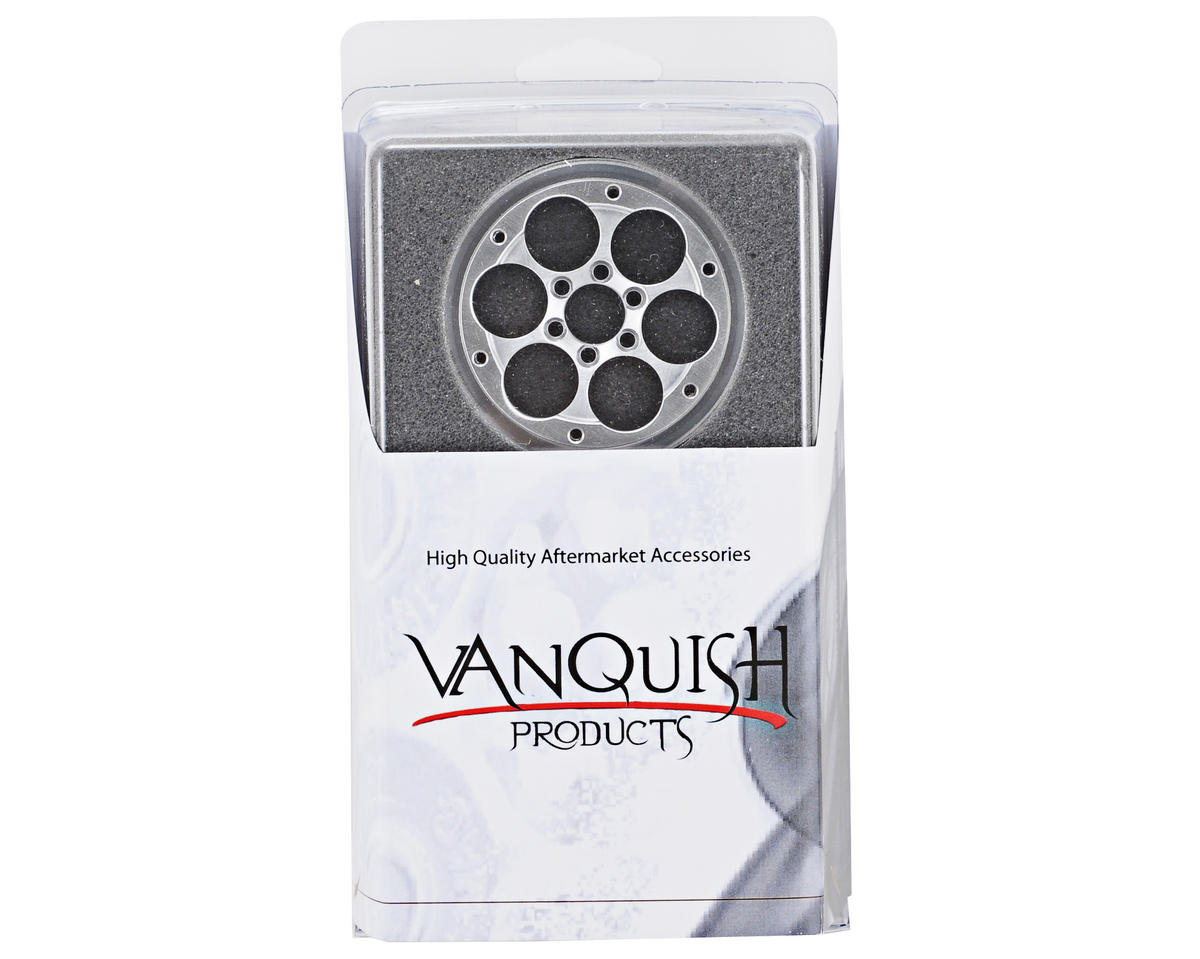 "Vanquish Products SLW V4 2.2"" Aluminum Beadlock Rock Crawler Wheels (2) (Raw) (1"" Wide)"