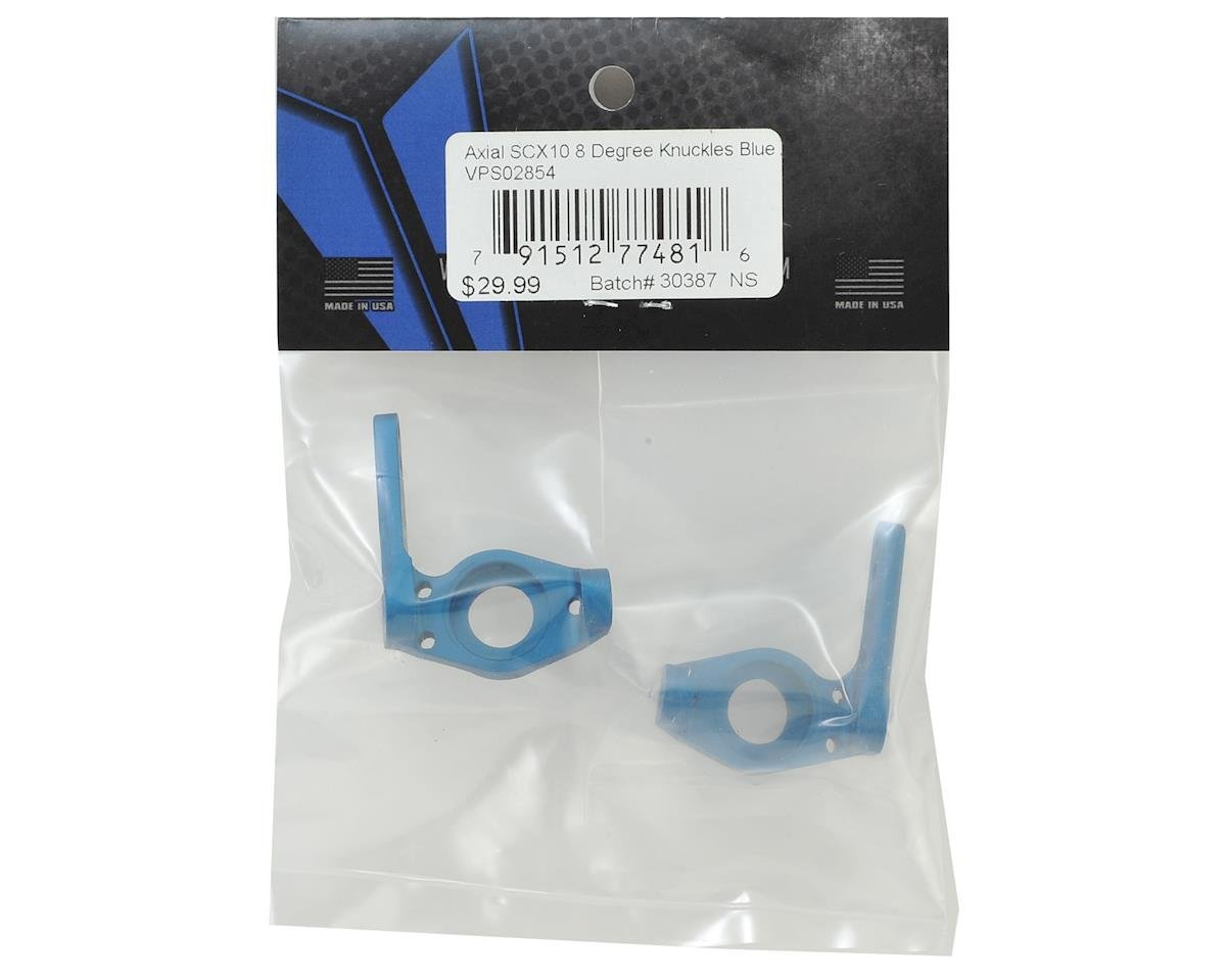 Vanquish Products Axial SCX10 8° Knuckles (Blue) (2)